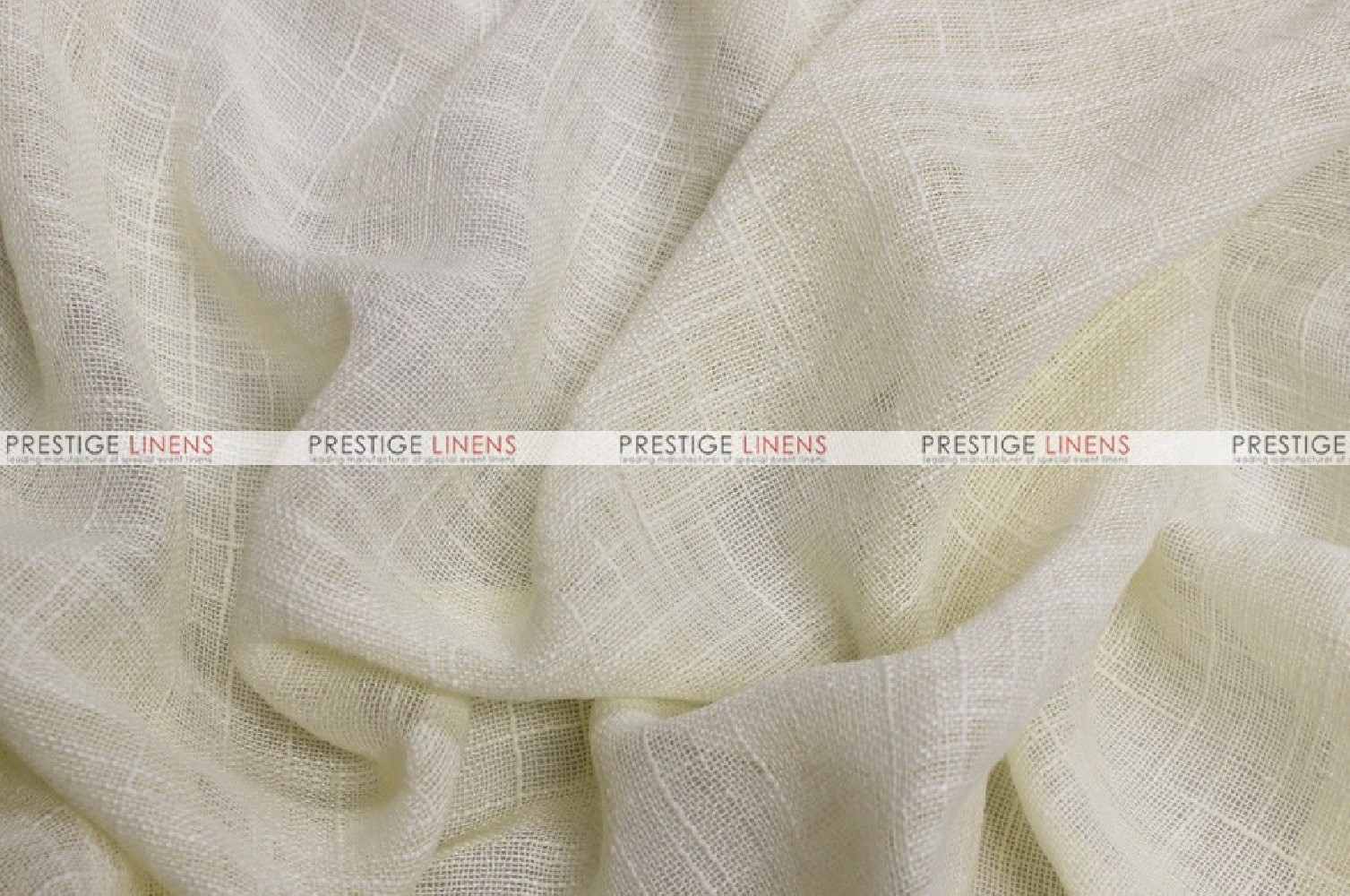 Faux Sheer Linen Fabric By The Yard Ivory Prestige