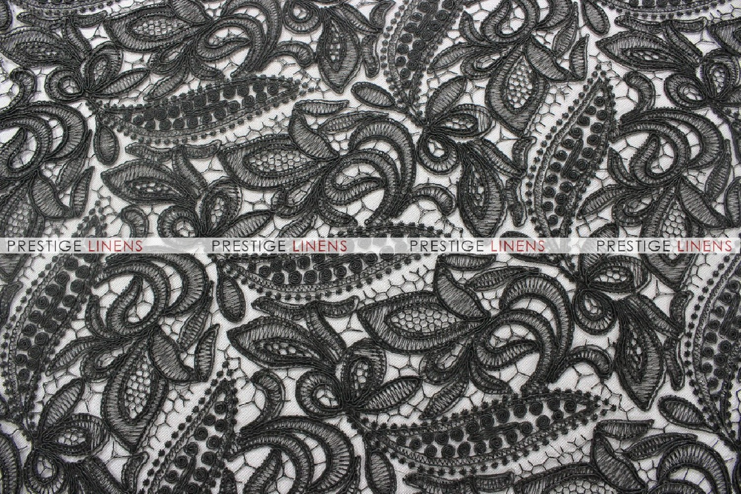 French Lace Fabric By The Yard Black Prestige Linens