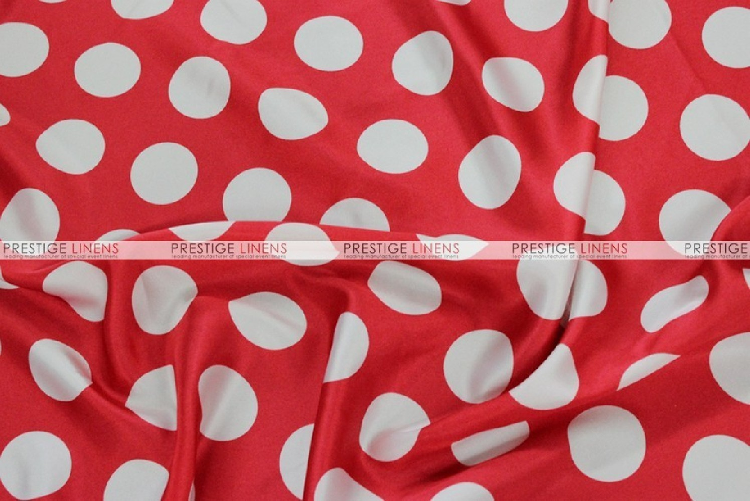 Polka Dot Charmeuse Fabric By The Yard Red White