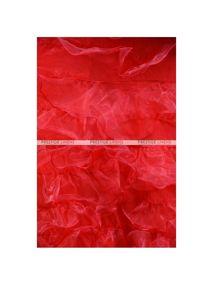 Ruffle mesh organza fabric by the yard red prestige linens - Salon prestige organza ...