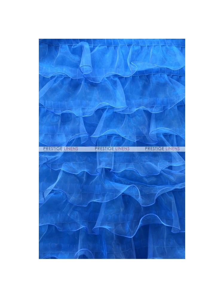 Ruffle Mesh Organza Fabric By The Yard Turquoise