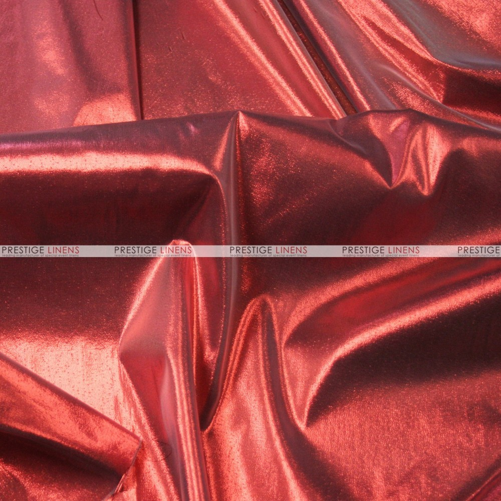Tissue Lame Fabric By The Yard Red Prestige Linens