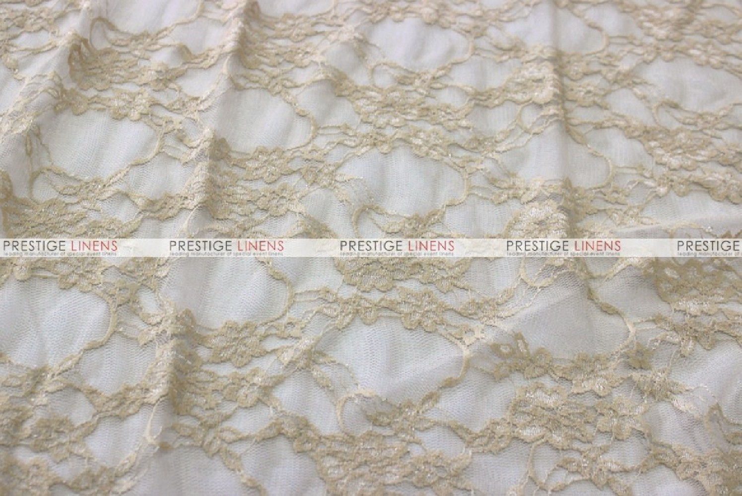 Victorian Stretch Lace Fabric By The Yard Champagne