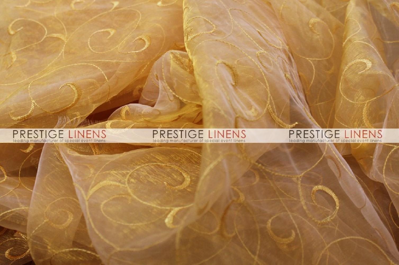 Organza swirl draping 230 sungold prestige linens - Salon prestige organza ...