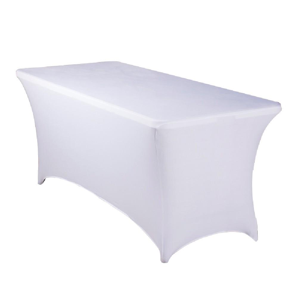 Spandex Tablecloth 6ft Banquet White Prestige Linens