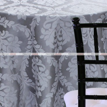 Classic Damask Table Linen - Grey