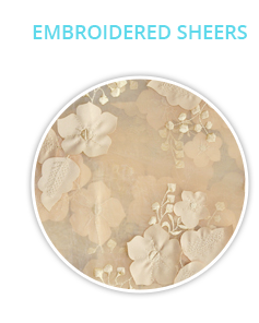 Embroidered Sheer Fabrics
