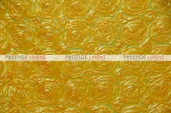 Rosette Satin Table Runner - Yellow