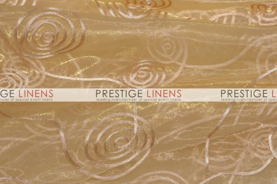 Spiral Ribbon Organza Table Runner - 226 Gold
