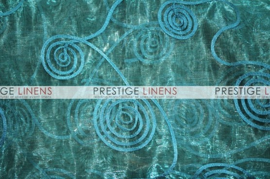 Spiral Ribbon Organza Table Runner - 738 Teal