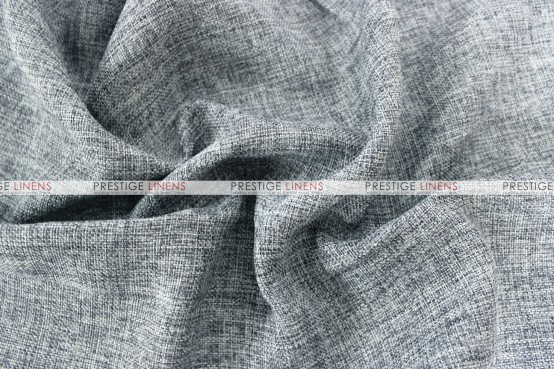 Vintage Linen Table Runner - Charcoal