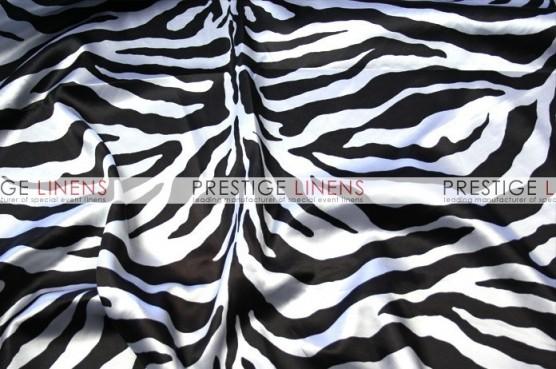 Zebra Print Charmeuse Table Runner - White
