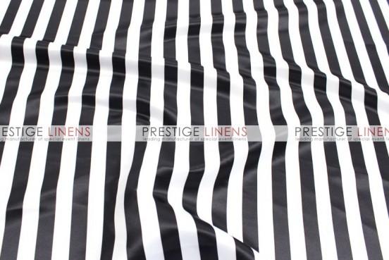 Striped Print Lamour Aisle Runner - 1 Inch - Black