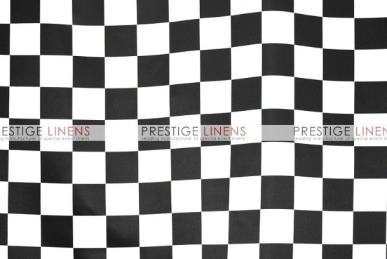 Race Check Lamour Draping - 3.5 Inch-White