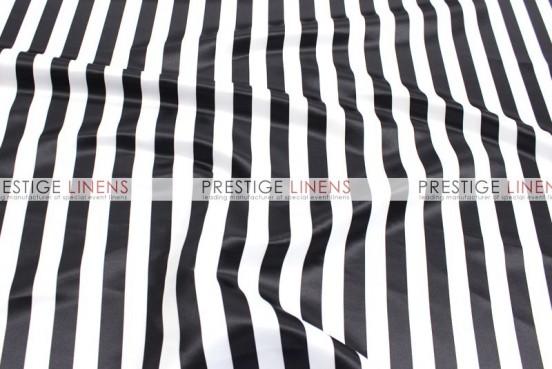 Striped Print Lamour Table Linen - 1 Inch - Black