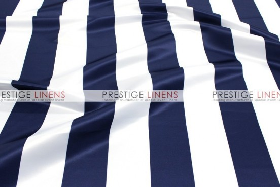 Striped Print Lamour Table Linen - 3.5 Inch - Navy