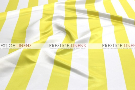 Striped Print Lamour Table Linen - 3.5 Inch - Yellow