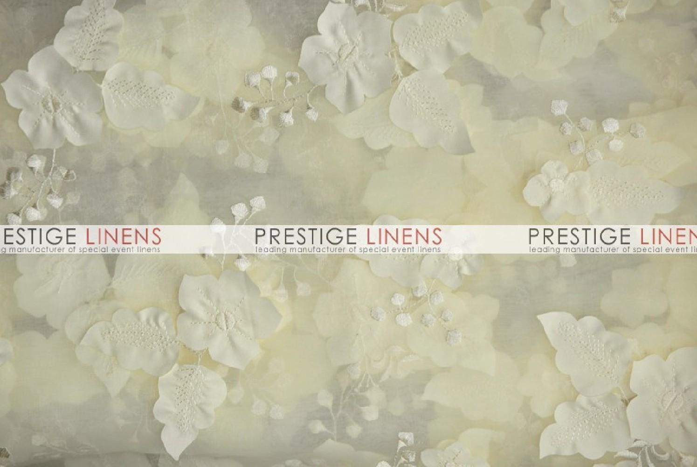Applique organza chair caps sleeves ivory prestige linens - Salon prestige organza ...