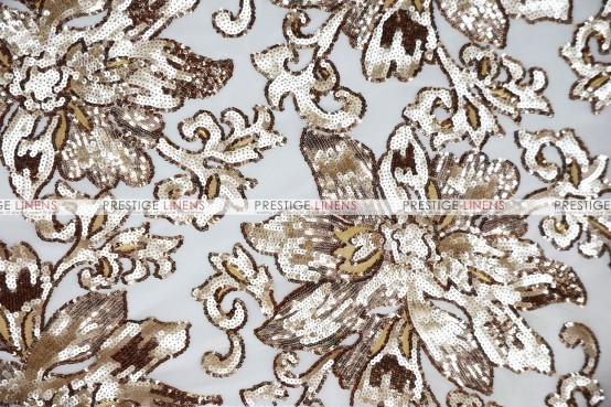 Classical Flower Chair Caps & Sleeves - Champagne