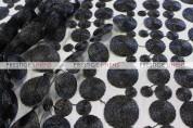 Coins Chair Caps & Sleeves - Black