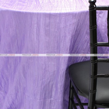 Crushed Taffeta Chair Caps & Sleeves - 1026 Lavender