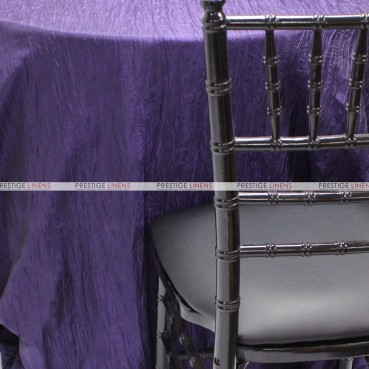 Crushed Taffeta Chair Caps & Sleeves - 1032 Purple
