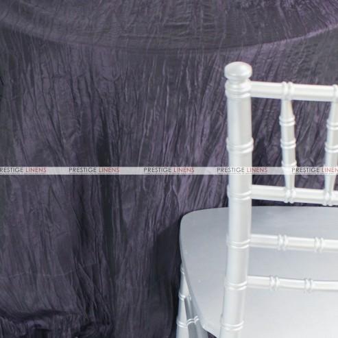 Crushed Taffeta Chair Caps & Sleeves - 1034 Plum