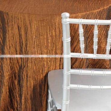 Crushed Taffeta Chair Caps & Sleeves - 110 Copper