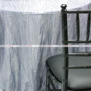 Crushed Taffeta Chair Caps & Sleeves - 1126 Silver