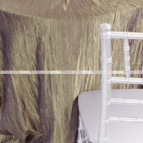 Crushed Taffeta Chair Caps & Sleeves - 132 Taupe