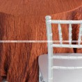 Crushed Taffeta Chair Caps & Sleeves - 368 Terracotta