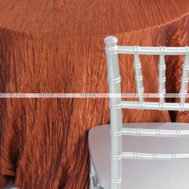 Crushed Taffeta Chair Caps & Sleeves - 368 Terracotta