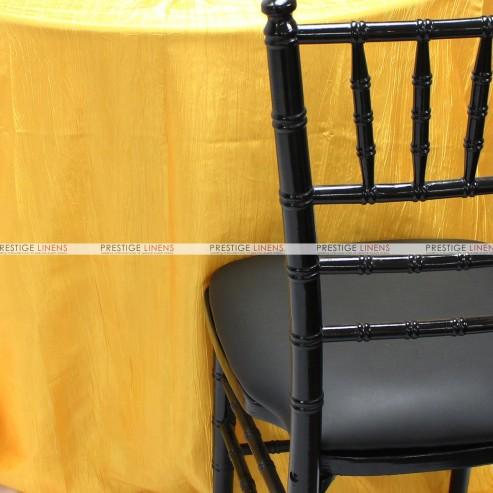 Crushed Taffeta Chair Caps & Sleeves - 426 Yellow