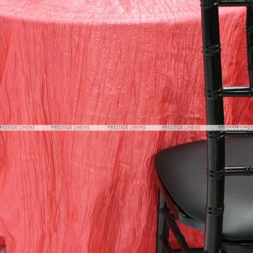 Crushed Taffeta Chair Caps & Sleeves - 444 Lt Coral