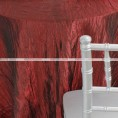 Crushed Taffeta Chair Caps & Sleeves - 500 Burgundy