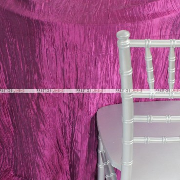 Crushed Taffeta Chair Caps & Sleeves - 646 Magenta