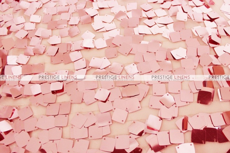Dazzle Square Sequins Chair Caps & Sleeves - Blush