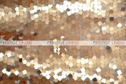 Dazzle Square Sequins Chair Caps & Sleeves - Gold (Dull)