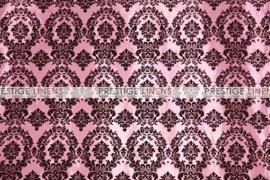 Flocking Damask Taffeta Chair Caps & Sleeves - Pink/Black