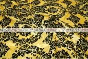Flocking Damask Taffeta Chair Caps & Sleeves - Yellow/Black