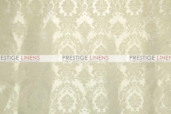 Flocking Damask Taffeta Aisle Runner - Ivory/Ivory