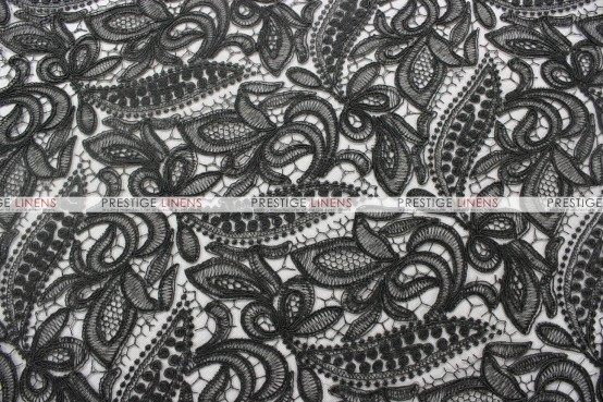 French Lace Chair Caps & Sleeves - Black