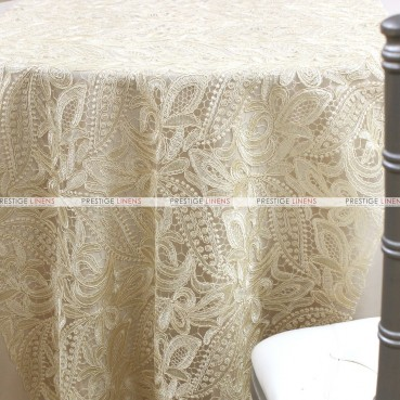 French Lace Chair Caps & Sleeves - Natural