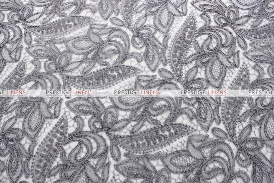 French Lace Chair Caps & Sleeves - Silver