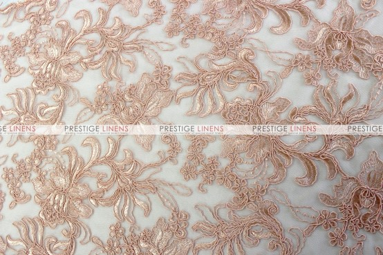 Giselle Net Embroidery Chair Caps & Sleeves - Blush