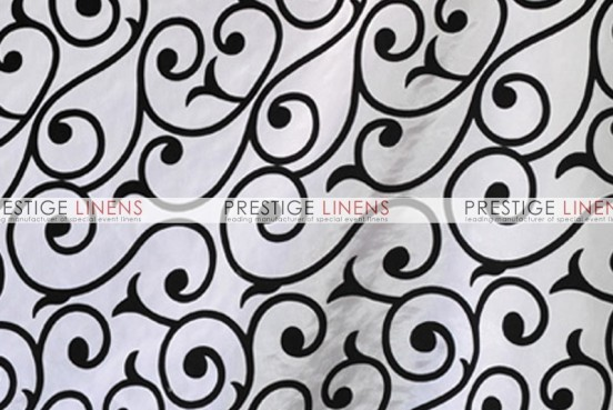 Flocking Damask Taffeta Aisle Runner - Scroll