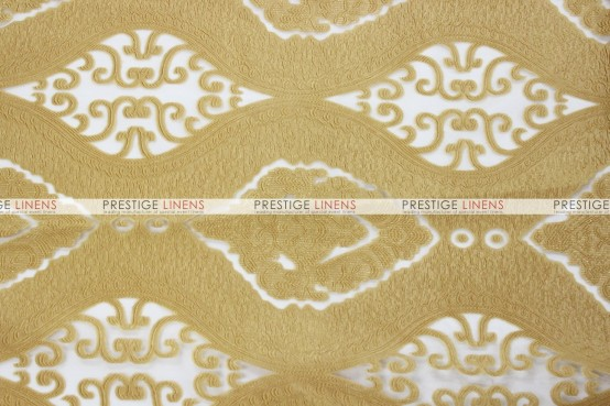 Imperial Damask Chair Caps & Sleeves - Gold