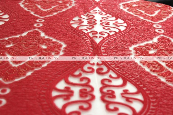 Imperial Damask Chair Caps & Sleeves - Red