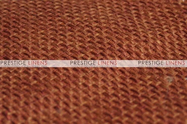 Jute Linen Chair Caps & Sleeves - Copper
