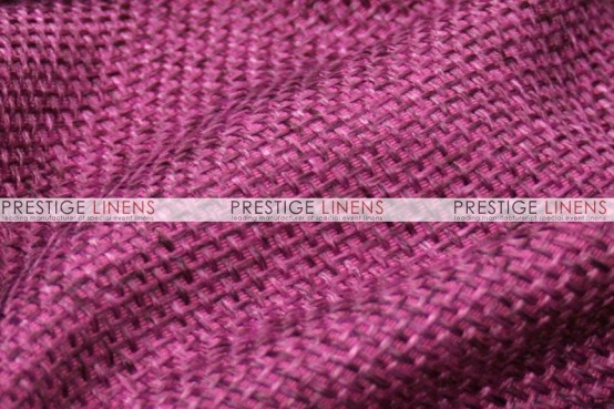 Jute Linen Chair Caps & Sleeves - Magenta